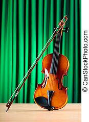 violin, begrepp, musik