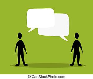 charla, gente, concepto