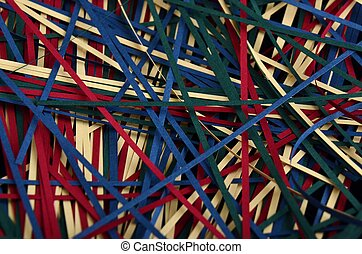 Strips of Quilling paper - The quilling hobby uses these...