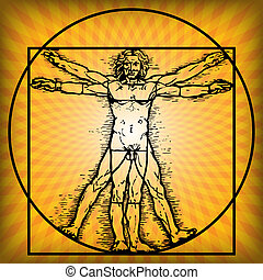 Sungazing - Illustration of a man who uses the benefits of...