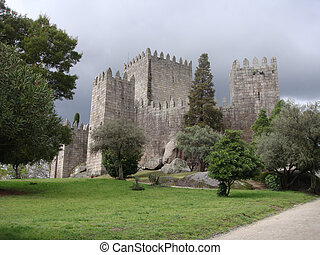 Castle - Guimares - A castle from medieval times in northern...