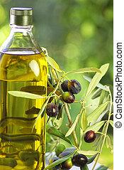 Bottle of extra virgin olive oil