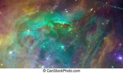 Colorful space background loop - Colorful space background...