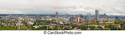 Portland Oregon Downtown View Panorama