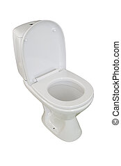 toilet bowl, photo on the white background
