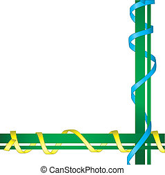 line of ribbons.Vector illustration