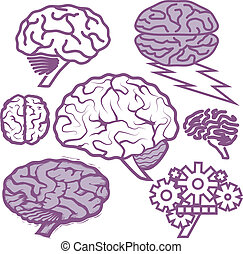 Brain Collection - Clip art collection of various purple...
