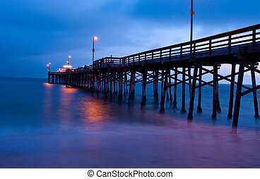 Sunset from Balboa Pier, Newport Beach, California - Sunset...