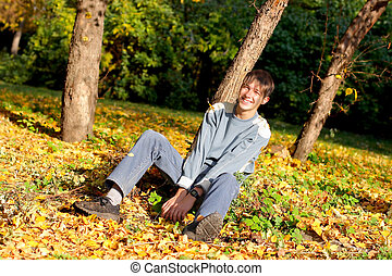 teenager in the park