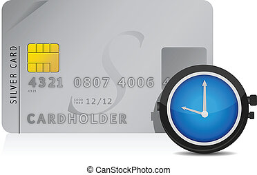 time is money credit card concept