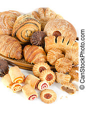 Bakery foodstuffs set