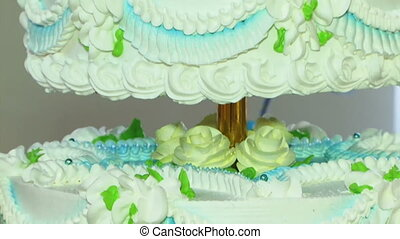 Wedding cake with angel
