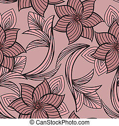 pink floral seamless background - seamless background with...