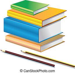 Stationary - Books & Pencils