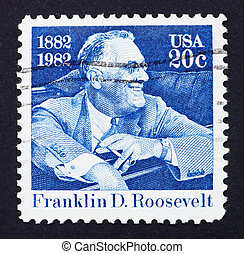 Postage stamp USA 1982 Franklin Delano Roosevelt - UNITED...