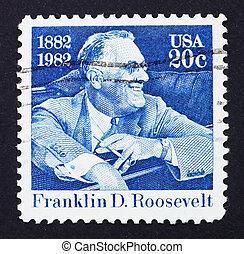 Postage stamp USA 1982 Franklin Delano Roosevelt - UNITED...