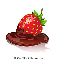 Chocolate strawberry - Chocolate covered strawberry with...