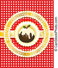 Christmas Recipe book - Gingham Christmas recipe book cover...
