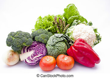 various plants and vegetables healthy diet