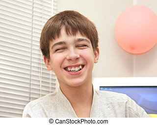 laughing teenager