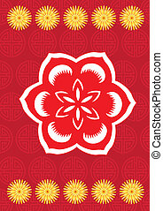 Chinese new year flower pattern