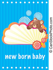 New born baby card - New born baby boy card