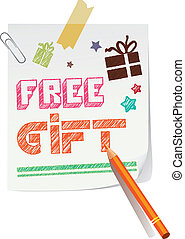 Free gift announcement