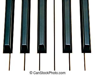 octave keys - piano keys octave close up
