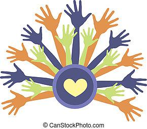 Hands up  - Illustration - Hands up design