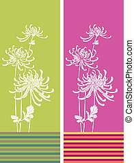 Bamboo - Silhouette of branches of a bamboo on a color...