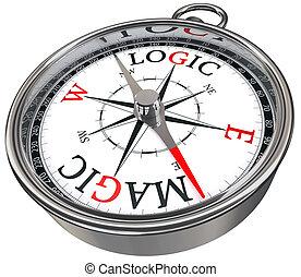 logic versus magic concept compass