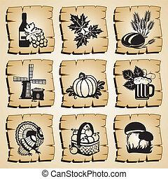 icons autumn
