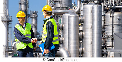 Petrochemical contractors - Two petrochemical contractors...