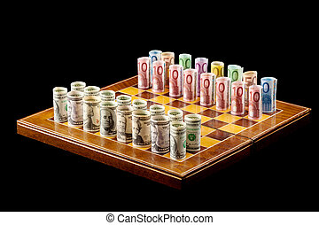 Money games concept - Money games - strategy and risk...