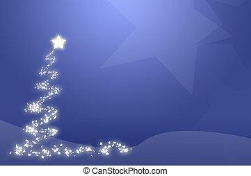 blauwe, boompje, Kerstmis