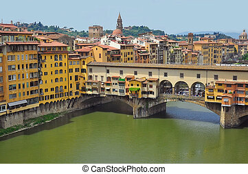 Vecchio Bridge, Florence , Italy, view from above