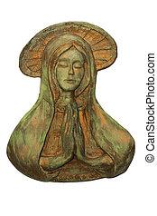 statue of Virgin Mary - original sculpture of Virgin Mary...