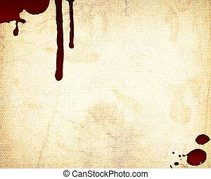 sangre, pared