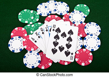 Royal Straight Flush - Ace high royal straight flush poker...