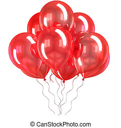 color balloons isolated - 3d color balloons isolated on...