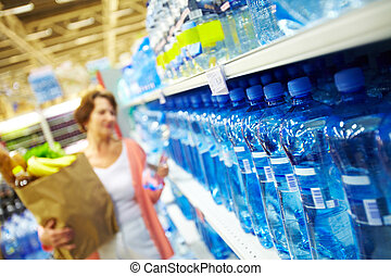 Lots of water - Image of many plastic bottles with water in...