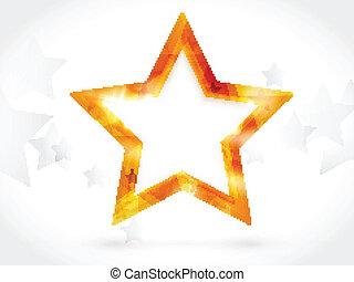 Shiny golden star