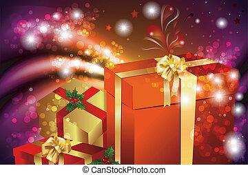 sfondo regali - il sfondo colorato e luminoso con pacchi...