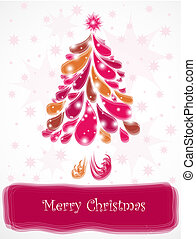 Abstract pink christmas tree. Vector - Abstract christmas...
