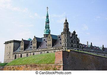 Kronborg Castle in Helsingor/Elsinore. One of the world...