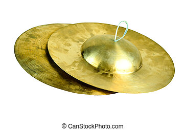 Thai Small Cymbal - Old Style Brass Thai small cymbal...