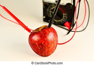 Apple Power - Red Apple Connect to test Meter for Power