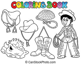 Coloring book country collection - vector illustration