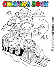 Coloring book Christmas topic 4 - vector illustration