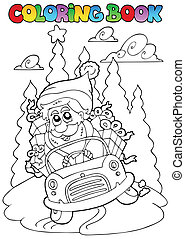 Coloring book Christmas topic 5 - vector illustration